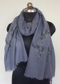 Super fine wool scarf ''THARIDAR '' embroidered 70x200cm KT-MP5992