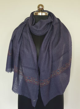 Super fine wool scarf ''PALDOR'' embroidered 70x200cm KT-MP5899