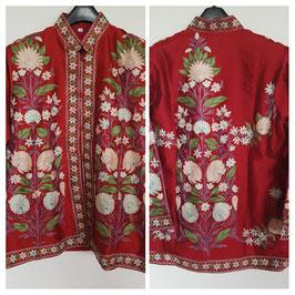 Jacket silk short embroidered JS-001