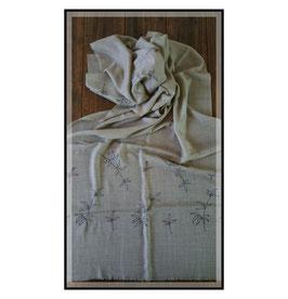 "Fine Cashmere leaf design scarf ""THARIDAR"""