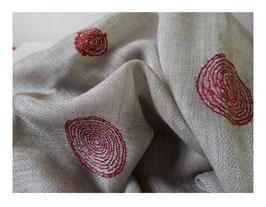 """Cashmere fine """"SPIRAL"""" scarf natural KT-0109"""