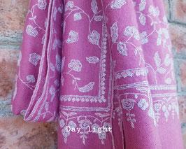 Pashmina shawl JALDAR baby pink 100x200cm KT-PSH36