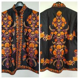 Jacket silk short embroidered JS-003