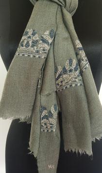 Super fine wool scarf ''PALDAR '' embroidered 70x200cm KT-MP5993