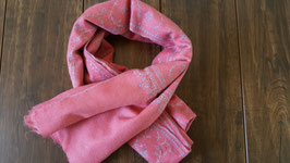 "Cashmere shawl fine embroidery ""JALDAR"" Pink"