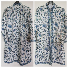 Jacket silk long embroidered JL-008