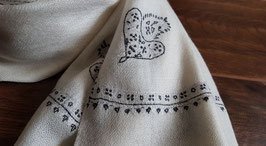 "Cashmere fine classical ""BAILDAR"" scarf natural KT-0098"