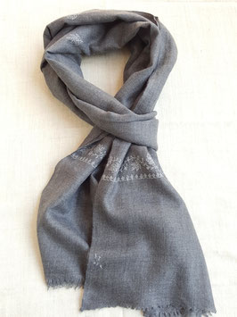 Cashmere Scarf 75x200cm light charcoal grey Kt 052