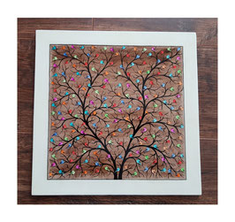 "Paper Machee wall frame""Tree of Life"". 28x28cm PMFM-001"