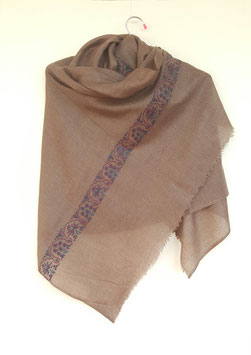 Cashmere Scarf 75x200cm wood brown Kt 050