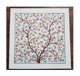 "Paper Machee wall frame""Tree of Life"". 28x28cm PMFM-002"