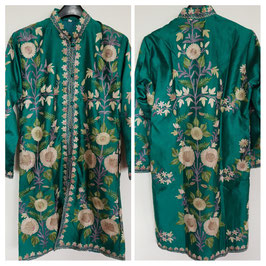 Jacket silk long embroidered JL-009