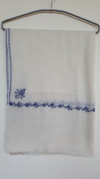 Cashmere Scarf 75x200cm natural white.