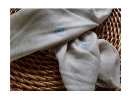 """Cashmere fine  """"SPIRAL"""" scarf natural KT-0110"""