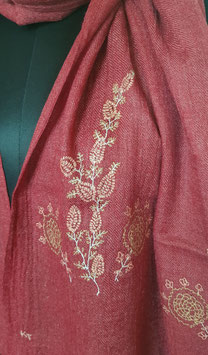 Super fine wool scarf ''THARIDAR '' embroidered 70x200cm KT-MP5991