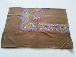 "Pashmina Omani Musar head scarf 135x135cm ""DARK BROWN"" KT-DD023"