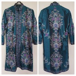 Jacket silk long embroidered JL-001