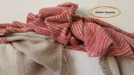 "Pashmina luxury blanket ""Hand-crafted"" KT-865 75x200cm"