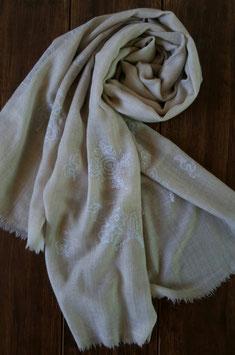 "Fine Cashmere leaf design scarf ""THARIDAR"" (MPTHARIDAR-232)"