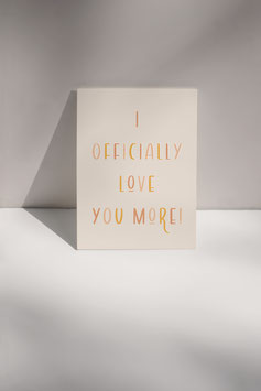 Postkarte LOVE YOU MORE