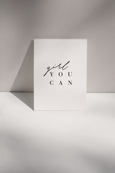 Postkarte GIRL YOU CAN