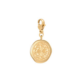 ANHÄNGER CHARM ANCIENT COIN - GOLD