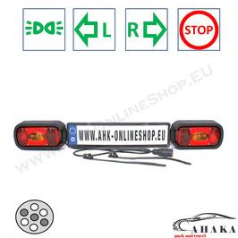 Lichtleiste TL7PMD36 von AHAKA mit einem 7-poligen Stecker für Heckträger und Anhänger