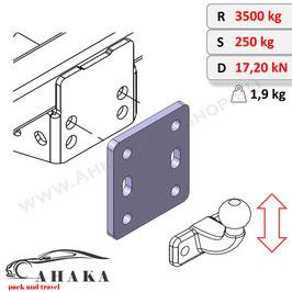 Anh/ängerkupplung mit Befestigungsbolzen h/öhenverstellbar
