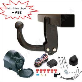 Komplettsatz - Anhängerkupplung mit Elektrosatz 13 polig universal Infiniti FX 30/37/50 Bj. ab 2012-