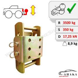 Höhenverstellbare Anhängerkupplung inkl. Befestigungsschrauben – 3 x 45 mm