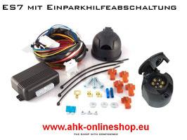 Fiat Doblo II Bj. 2010- Elektrosatz 7 polig universal Anhängerkupplung mit EPH-Abschaltung