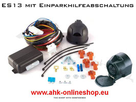 Dacia Duster Bj. 10.2013- Elektrosatz 13 polig universal Anhängerkupplung mit EPH-Abschaltung