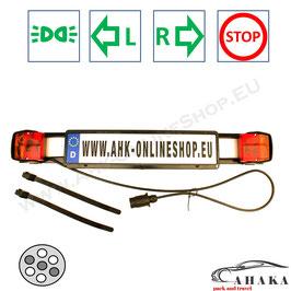 Lichtleiste TL7PMD2 von AHAKA mit einem 7-poligen Stecker für Heckträger und Anhänger