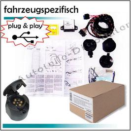 Elektrosatz 7 polig fahrzeugspezifisch Anhängerkupplung für Audi A4 Cabrio Bj. 10.2004 - 10.2007