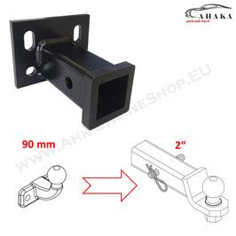 Universeller Geräteträger mit 2 Zoll Aufnahme - Lochabstand 90 mm