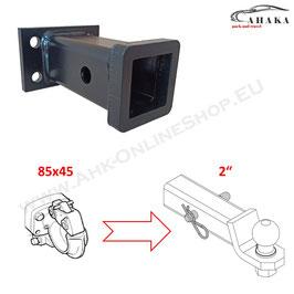 Universeller Geräteträger mit 2 Zoll Aufnahme - Lochbild 85 x 45 mm