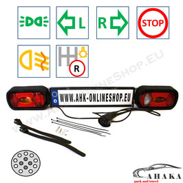 Lichtleiste TL13PMD36 von AHAKA mit einem 13-poligen Stecker für Heckträger und Anhänger