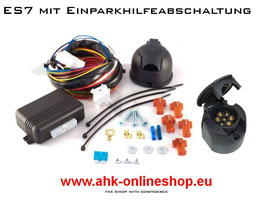 VW Jetta  Bj. 2011- Elektrosatz 7 polig universal Anhängerkupplung mit EPH-Abschaltung