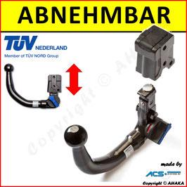 Anhängerkupplung abnehmbar (vertikal) für Ford Transit Custom Bj. ab 2012-