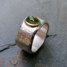 Silber-Ring mit grünem Turmalin
