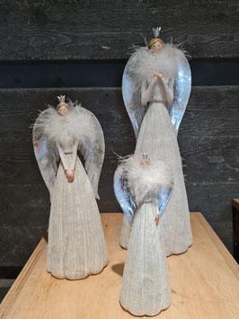 Engel silber/weiß