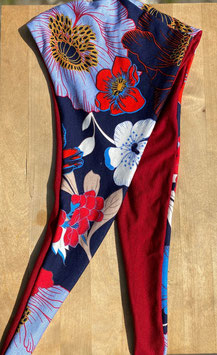 Maske Mohnblüte blau