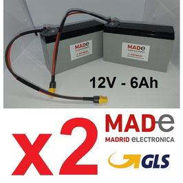2 Baterías BC1260-PB-Plus con conector XT60 hembra