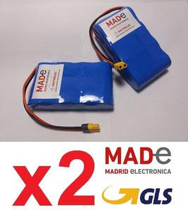 2 Baterías BC1206-LF  con conector XT-60 hembra