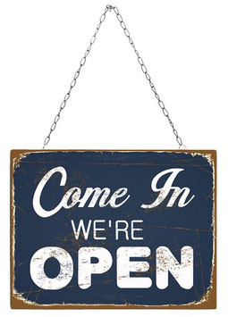 Come In, We're Open - Shop Sign