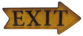 Exit Sign Rechts - Gelb