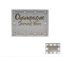 """Anzeigetafel """"Champagne Served Here"""" - beleuchtet"""