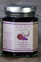 Cipolla Rossa, prugne e aceto balsamico