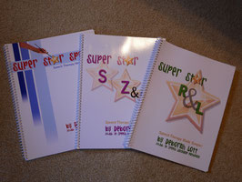 JANUARY DEAL!  3 Book Set including Super Star Speech, Super Star R & L, and Super Star S, Z, & Sh.