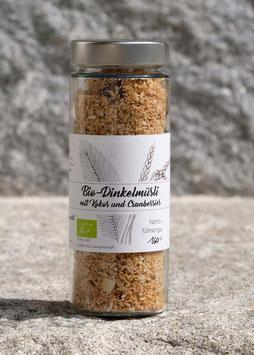 Bio-Dinkelmüsli mit Kokos und Cranberries